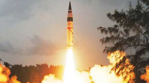 Addressing a press conference at the Defexpo-2014, DRDO chief Avinash Chander said the Agni-5 ballistic missile is expected to be ready for induction by the next year. (PTI)