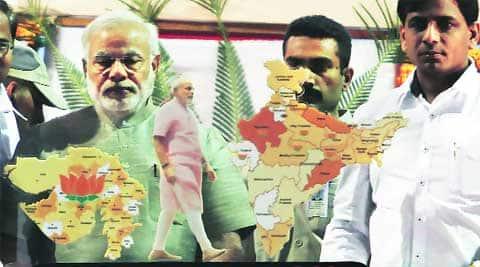 CM Narendra Modi in Vadodara on Friday. expressI