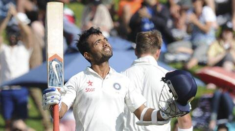 Ajinkya Rahane hit his maiden Test ton on Saturday (AP)
