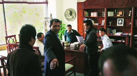 CM Kejriwal at the Secretariat on Monday.(Tashi Tobgyal)