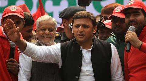 Most of the projects, unveiled in the ad under SP's party flag, are in their infancy, but are highlighted as 'Roz Naya Kadam' by the Akhilesh government. (AP)