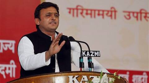 "The party has several wrestlers, who can stop the one who claims to have ""56 inch chest"","" Akhilesh said while addressing an election rally at Khalilabad, (AP)"
