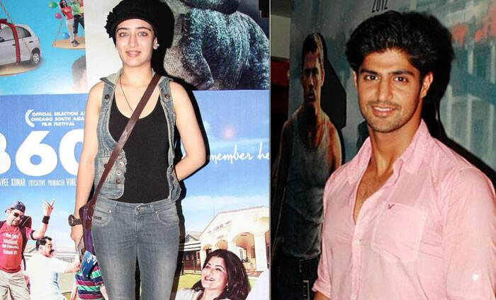 <b>Akshara Haasan - Tanuj Virwani</b>: Kamal Haasan's younger daughter Akshara is not making headlines for her movie debut but for her romance. According to reports she is close to Rati Agnihotri's son, Tanuj Virwani. <br /><br /> Apparently, the duo met when Akshara visited her mother Sarika on the sets of a film, where she was playing Tanuj's mother.