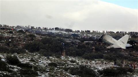 The U.S.-built C-130 Hercules transport crashed about noon near the town of Ain Kercha, 50 kilometers (30 miles) southeast of Constantine, the main city in eastern Algeria. (AP)