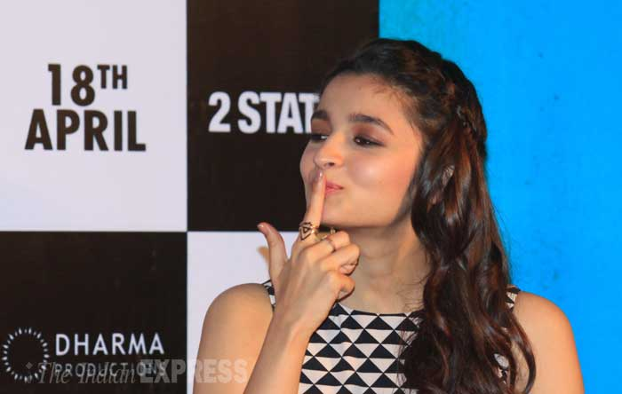 Trivia! When Alia was approached for '2 States', she said yes immediately because she was already in love with the character. (IE Photo: Amit Chakravarty)