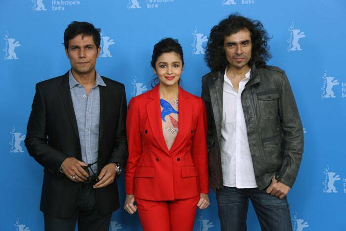 Highway's lead pair Alia Bhatt and Randeep Hooda walked the red carpet at the 64th Berlin Film Festival or Berlinale along with their director Imtiaz Ali. (AP)