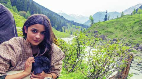 nature, me and you:   Alia Bhatt holds a baby goat