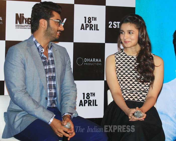 Arjun Kapoor said  he had a blast working on '2 States' and in the process made two very close friends in Alia Bhatt and Abhishek Varman. (IE Photo: Amit Chakravarty)