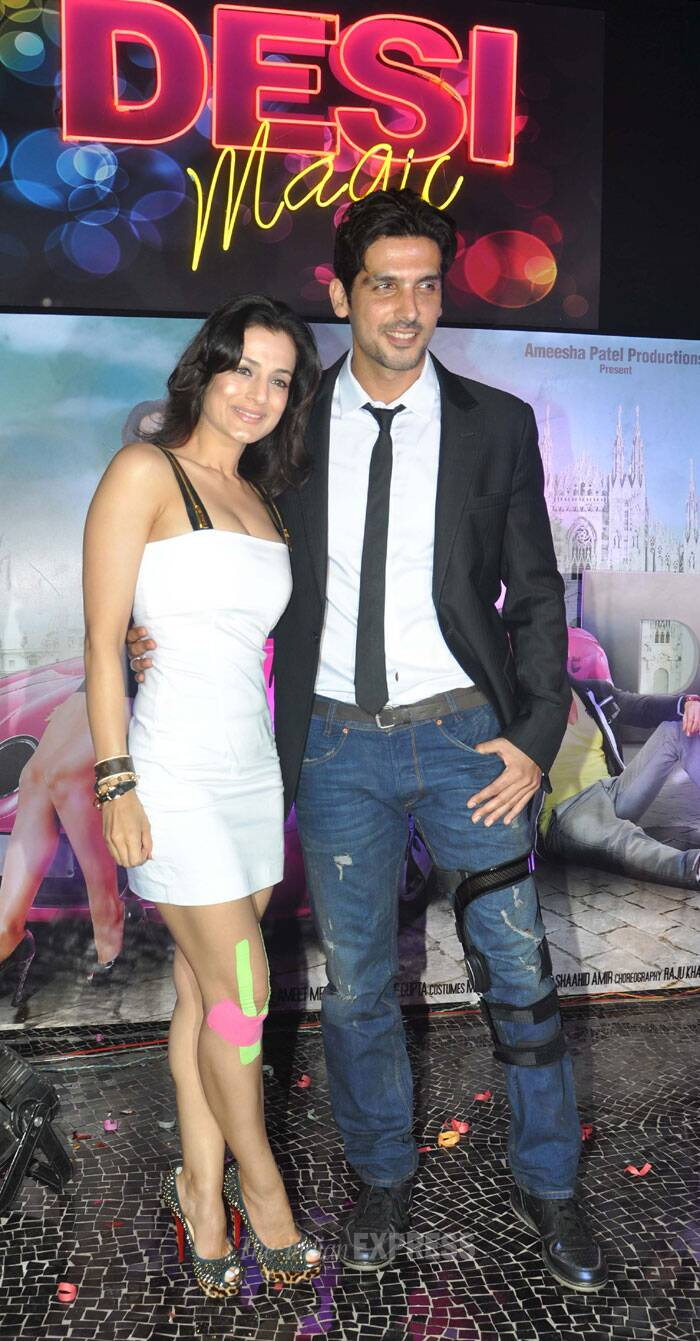 Ameesha with co-star Zayed Khan. (Photo: Varinder Chawla)