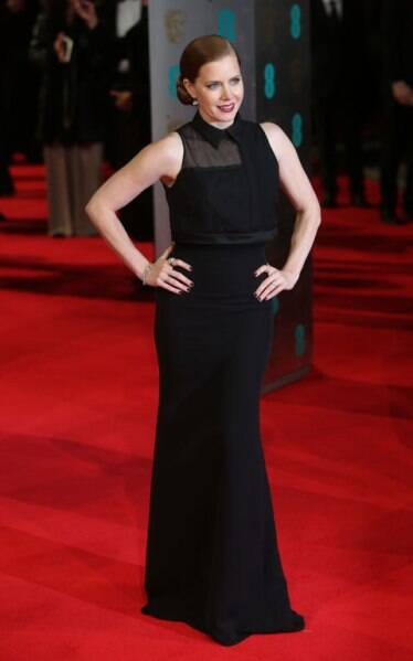 Amy Adams on the red carpet at the BAFTA. (AP)