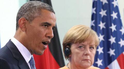 US President Barack Obama assured the German chancellor that the US will not spy on her again during his presidency. (AP)