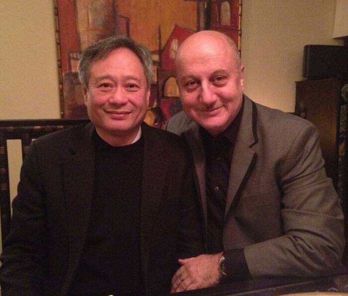 "Anupam Kher was happy to pose with 'Life of Pi' director Ang Lee. He had then tweeted: ""Congratulations to the entire team of Life Of Pi and to the Genius called Ang Lee. Proud to have worked with him.:)"" (Photo: Twitter)"