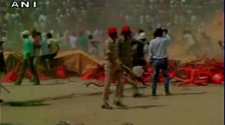 Violence at BJP rally in Bihar as Ajay Devgn arrives late
