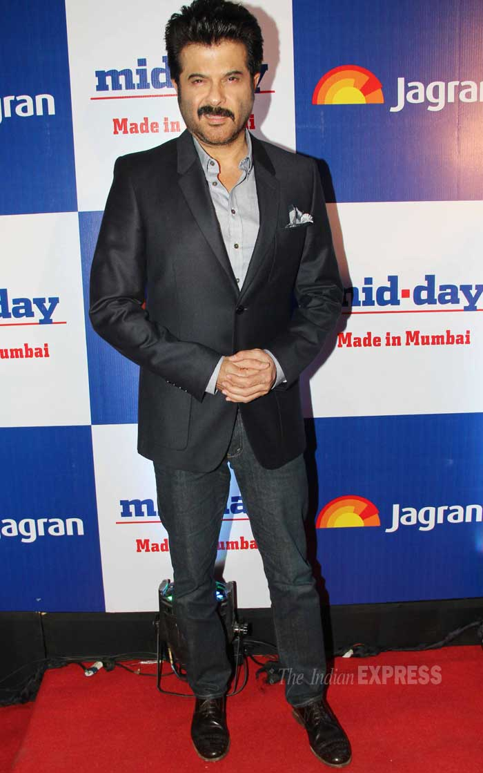 Classic Anil Kapoor expression! The actor was smart in the semi-formal attire. (Photo: Varinder Chawla)