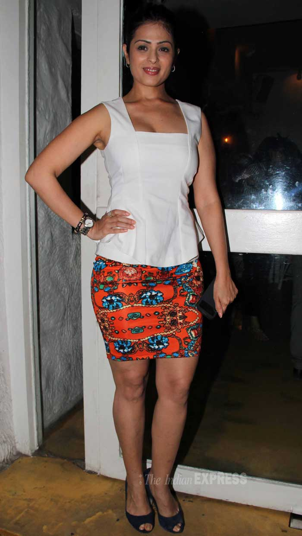 Model and actress Anja...