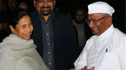 A rally in Delhi's Ramlila Maidan by Mamata and Hazare, possibly in the second week of March, will officially kickstart the  campaign.