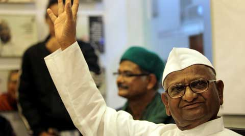 Anna Hazare clarified that he has chosen an individual path for himself and that he will not support anyone aligning with any party. (IE Photo: Ravi Kanojia)