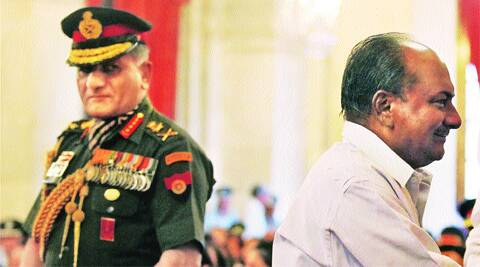 Defence Minister A K Antony and then Army chief Gen V K Singh at a function in 2012. (File)