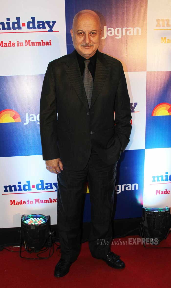 Bollywood actor Anupam Kher was dapper in the suit. (Photo: Varinder Chawla)