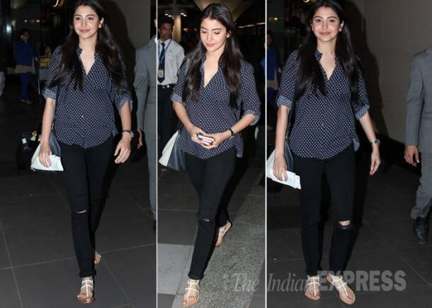 Anushka Sharma braves the paps at the airport