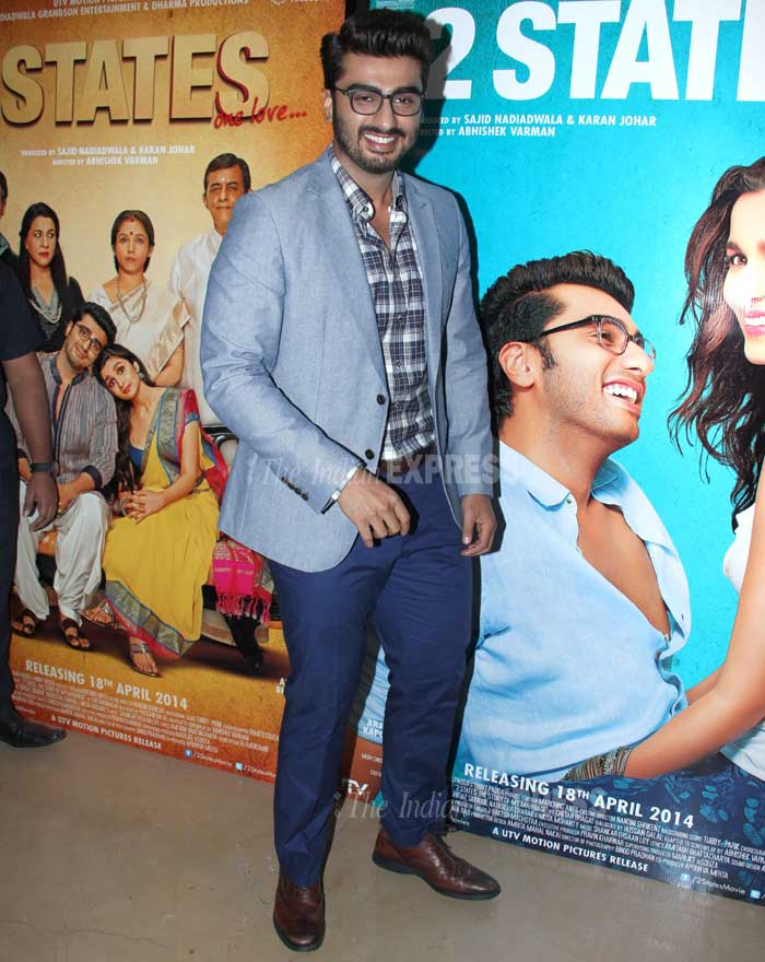 While, Arjun Kapoor came geeky style in sync with his character. The 'Gunday' actor was suave in the semi formal attire. (Photo: Varinder Chawla)