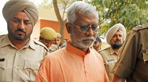 "Swami Aseemanand in an interview claimed that RSS chief Mohan Bhagwat had ""sanctioned"" the attacks. (Express Archive)"
