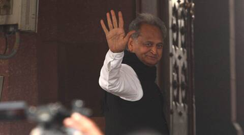 Gehlot has been sulking since the high command sidelined him following the rout in the assembly polls. (Express Archive)