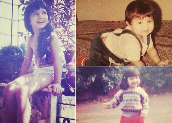 New Mom Ayesha Takia Azmi posted a series of pictures from her childhood album. Ayesha was a chubby little princess, who is seen only in track pants when she was 3 years old, flaunted her long silky tresses even then.