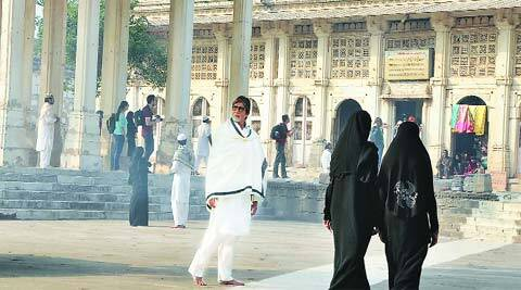 Amitabh Bachchan visited Sarkhej Roza in Ahmedabad to shoot the ads. (Javed Raja)