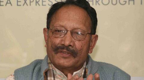 Khanduri said the BJP govt had already come up with a strong Lokayukta legislation but the Cong rejected it. (Express Archive)