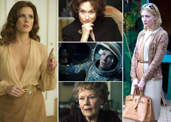 BEST ACTRESS<br /><br />Amy Adams: American Hustle<br />Cate Blanchett: Blue Jasmine<br />Sandra Bullock: Gravity<br />Judi Dench: Philomena<br />Meryl Streep: August: Osage County
