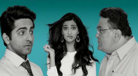 'Bewakoofiaan' is a yet another romcom from the YRF banner, where a jobless Ayushmann tries to woo his girlfriend Sonam Kapoor's father played by Rishi Kapoor.