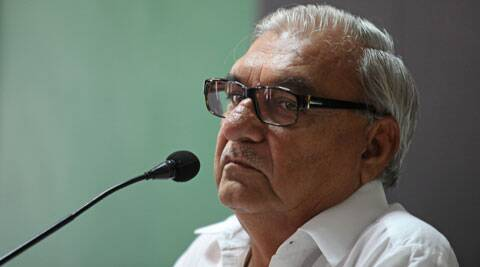 Bhupinder Singh Hooda, along with his Maharashtrian counterpart, Prithviraj Chavan held talks with Congress center leadership over change of ministers. (Express Archive)