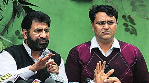 Iqbal, Binny address the press on Sunday.(Amit Mehra)