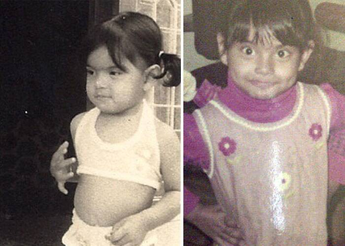 Bipasha Basu has always been the bikini babe. The actress looks too cute posing in the two-piece when she was young. This image was posted last year on Twitter by Bipasha Basu).