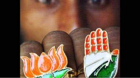 Ranchi bypolls, Bypolls in Ranchi, Godda, Godda constituency, BJP, BJP Godda, BJP wind Godda, Panki, Panki constituency, Congress, BJP Ranchi bypolls, Congress Ranchi bypolls, Jharkhand Vikas Morcha, JD (U), RJD, Jharkhand, Jharkhand Chief Minister Raghubar Das, Rahubar Das, india news