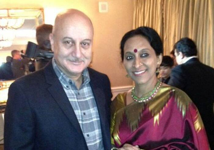 Bollywood playback singer Bombay Jayshree was also seen at Oscars Red Carpet in 2013. Bombay Jayshree was nominated for her song 'Pi's Lullaby' in the award winning film by Ang Lee 'Life Of Pi'.<br /> Bombay Jayshree unfortunately lost the award to Adele. (Photo: Twitter)