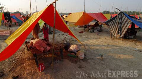 Atiq Ahmed Saturday said those still living in the relief camps were 'professional beggars'. IE Photo: (Gajendra Yadav)