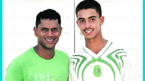 Shivnarine with Tagenarine, who is making waves in U-19 Cup