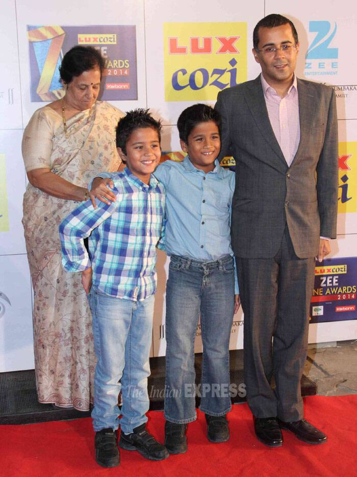 Author and screenplay writer Chetan Bhagat came with his sons. (Photo: Varinder Chawla)
