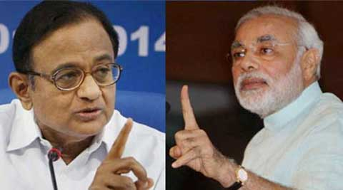 Chidambaram and Modi have been locked in a war of words over economy.