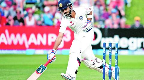 Ajinkya Rahane made 118 off 158 balls to help India post 438 in the first innings of the second Test in Wellington on Saturday. (Reuters)