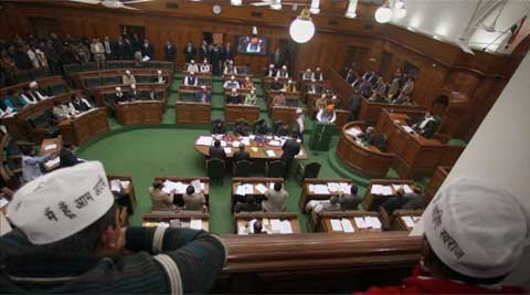 The four-day assembly session has been called by Delhi Government for passing of contentious Jan Lokpal and Swaraj Bills. (PTI)