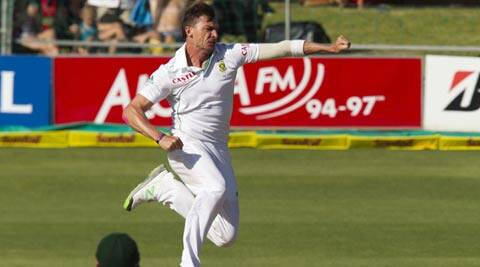 South Africa's Dale Steyn celebrates the wicket of Australia's Michael Clarke (not pictured) during the fourth day of the second Test (Reuters)