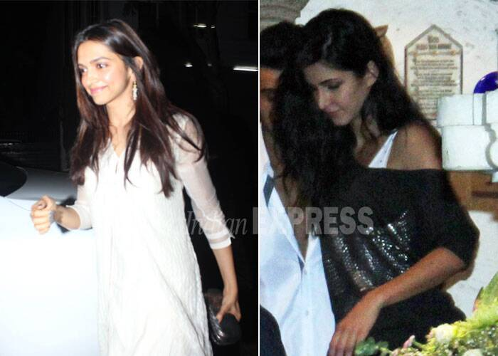 Deepika Padukone also took everyone by surprise when she claimed that she considered actress Katrina Kaif as one of her friends on 'Koffee With Karan'. According to reports, Deepika Padukone was at loggerheads with Katrina Kaif after the started dating the former ex-beau Ranbir Kapoor. <br /><br /> The two actresses were spotted together at director Karan Johar's birthday bash and then at Arjun Kapoor's birthday party, there is no word if the two actresses are over with the 'Kat' fight! (Photo: Varinder Chawla)