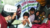 AAP says no LS tickets for MLAs, workers call off hunger strike