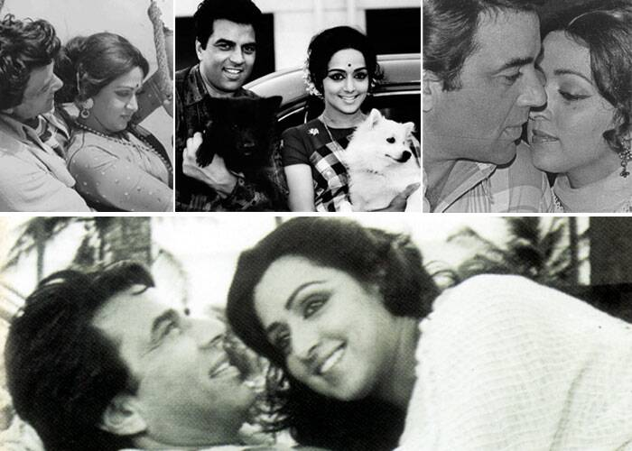 <b>Dharmendra-Hema Malini</b>: The fact that the dreamgirl from the South shared something special with the Bollywood hunk was quite evident right from their first appearance together – 'Seeta and Geeta'. The couple that eventually tied the knot became a favourite and audiences wanted to see more and more of Dharmendra and Hema Malini together. Some of their hits include 'Raja Jani, Dream Girl, Sholay, Sharafat' and 'Tum Haseen Main Jawaan.'
