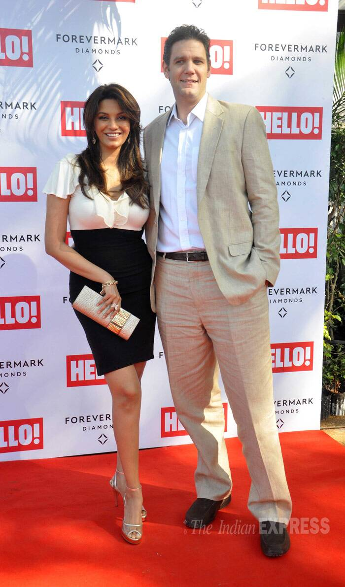 Diana Hayden was seen with her husband Collin Dick. (Photo: Varinder Chawla)