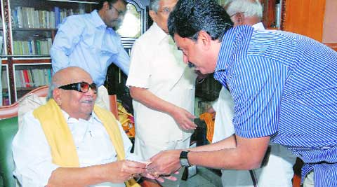 Sait with Karunanidhi