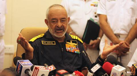 Navy Chief Admiral D K Joshi on Wednesday resigned in the wake of submarine INS Sindhuratna mishap. (Express Archive)
